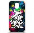 Coque en silicone Samsung Galaxy S5 - Swag or die
