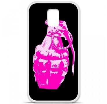 Coque en silicone Samsung Galaxy S5 - Grenade rose