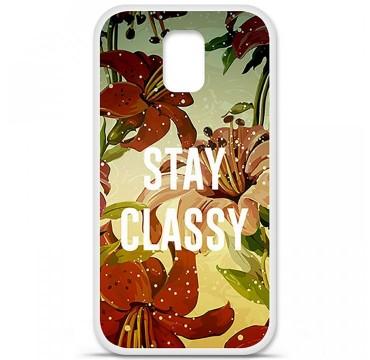 Coque en silicone pour Samsung Galaxy S5 - Stay classy