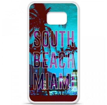 Coque en silicone pour Samsung Galaxy S6 - South beach miami