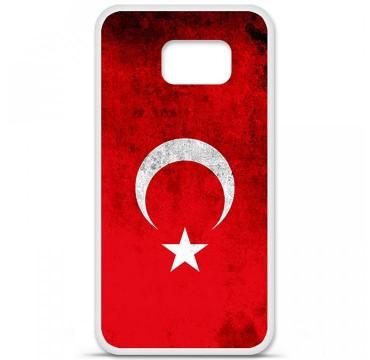 Coque en silicone Samsung Galaxy S6 - Drapeau Turquie
