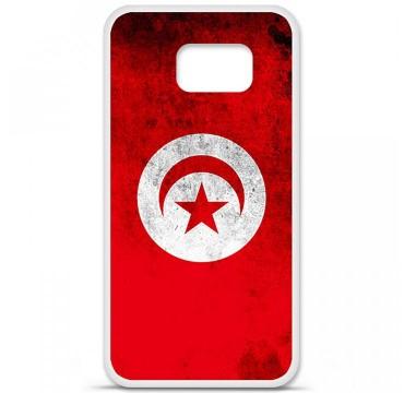 Coque en silicone pour Samsung Galaxy S6 - Drapeau Tunisie