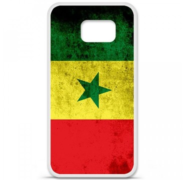 Coque en silicone pour Samsung Galaxy S6 - Drapeau Sénégal