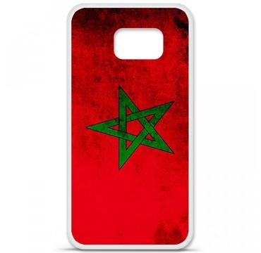 Coque en silicone pour Samsung Galaxy S6 - Drapeau Maroc