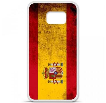 Coque en silicone Samsung Galaxy S6 - Drapeau Espagne