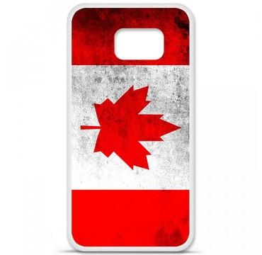 Coque en silicone pour Samsung Galaxy S6 - Drapeau Canada