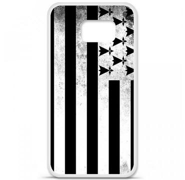 Coque en silicone pour Samsung Galaxy S6 - Drapeau Bretagne