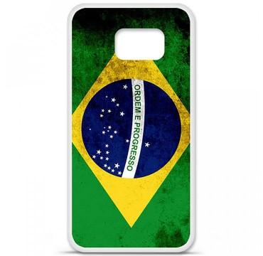 Coque en silicone Samsung Galaxy S6 - Drapeau Brésil