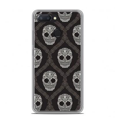 Coque en silicone Xiaomi RedMi 6 - Floral skull