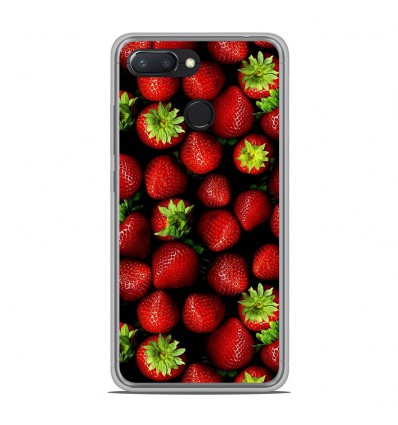 Coque en silicone Xiaomi RedMi 6 - Fraises