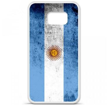 Coque en silicone pour Samsung Galaxy S6 - Drapeau Argentine