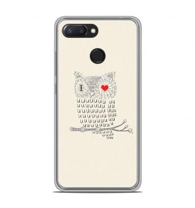 Coque en silicone Xiaomi RedMi 6 - I Love Hiboux