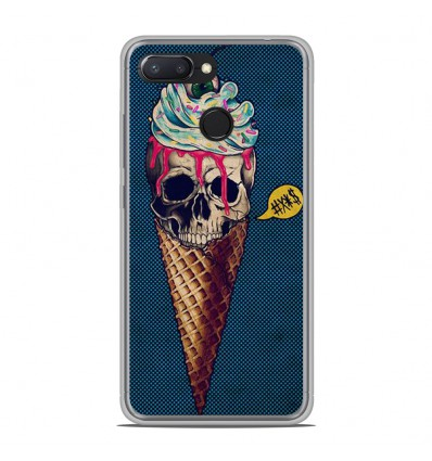 Coque en silicone Xiaomi RedMi 6 - Ice cream skull blue