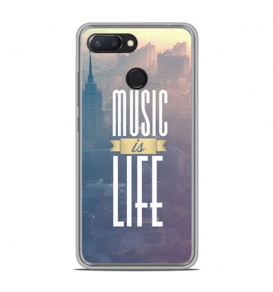 Coque en silicone Xiaomi RedMi 6 - Music is life