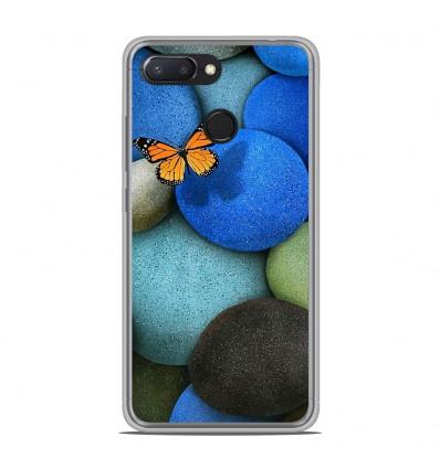Coque en silicone Xiaomi RedMi 6 - Papillon galet bleu
