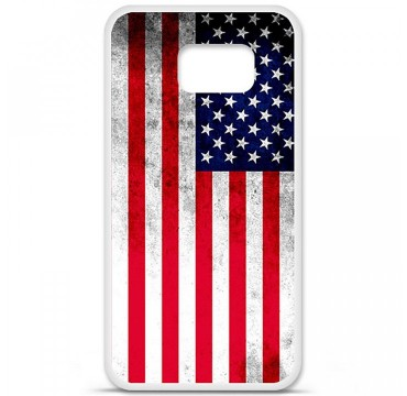 Coque en silicone Samsung Galaxy S6 - Drapeau USA