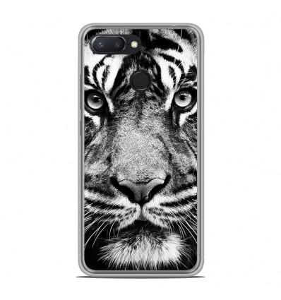 Coque en silicone Xiaomi RedMi 6 - Tigre blanc et noir