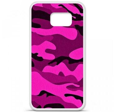 Coque en silicone pour Samsung Galaxy S6 - Camouflage rose