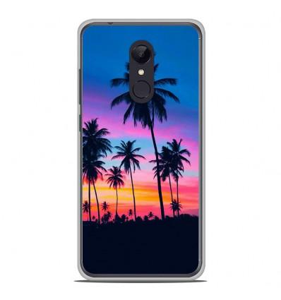 Coque en silicone pour Xiaomi RedMi 5 Plus - Palmiers colorés