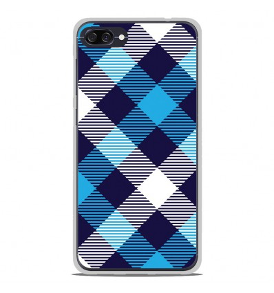 Coque en silicone Asus Zenfone 4 max ZC520KL - Tartan Bleu