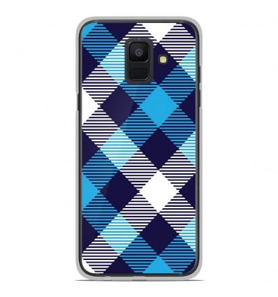 Coque en silicone Samsung Galaxy A6 2018 - Tartan Bleu