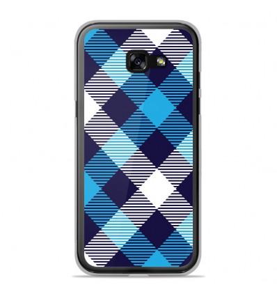 Coque en silicone Samsung Galaxy A3 2017 - Tartan Bleu