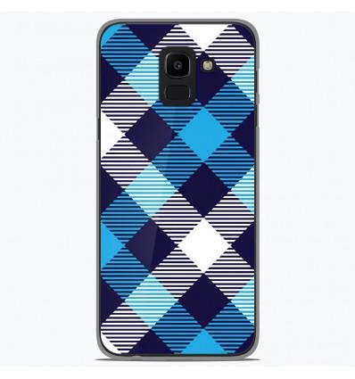 Coque en silicone Samsung Galaxy J6 2018 - Tartan Bleu