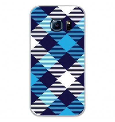 Coque en silicone Samsung Galaxy S7 - Tartan Bleu
