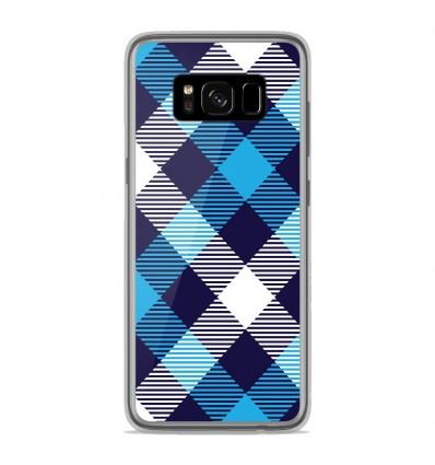 Coque en silicone Samsung Galaxy S8 - Tartan Bleu