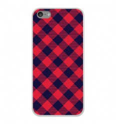 Coque en silicone Apple iPhone 5C - Tartan Rouge