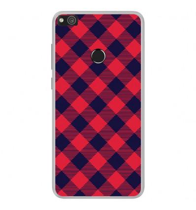 Coque en silicone Huawei P8 Lite 2017 - Tartan Rouge
