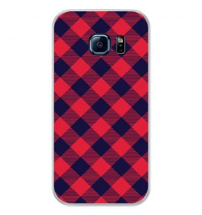 Coque en silicone Samsung Galaxy S7 - Tartan Rouge