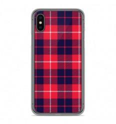 Coque en silicone Apple iPhone X / XS - Tartan Rouge 2