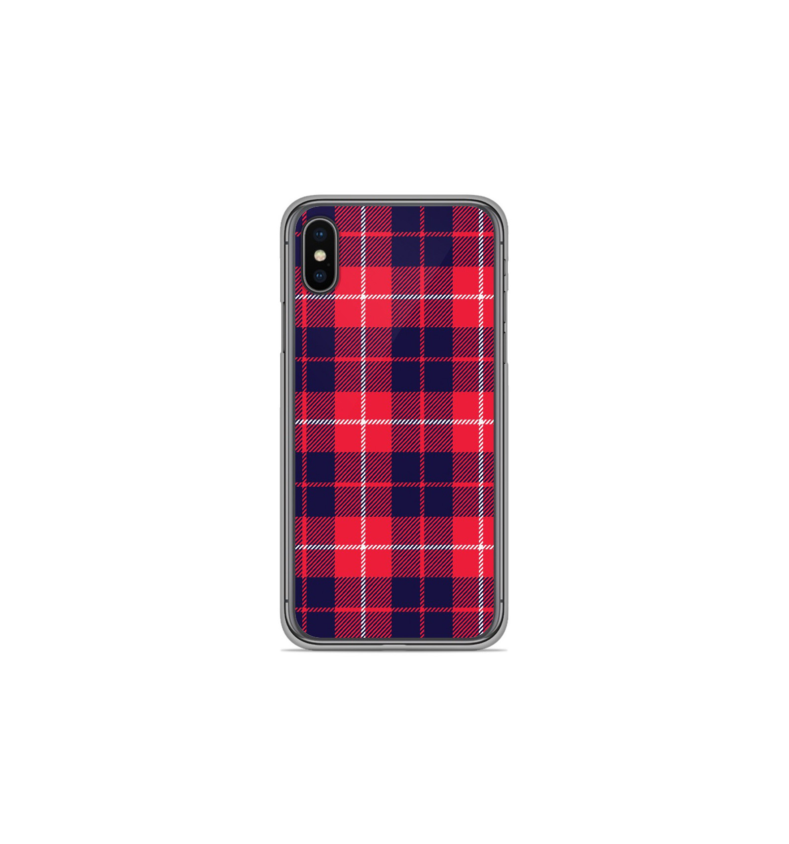 coque iphone xs silicone rouge apple