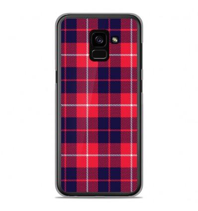 Coque en silicone Samsung Galaxy A8 Plus 2018 - Tartan Rouge 2