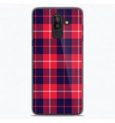 Coque en silicone Samsung Galaxy J8 2018 - Tartan Rouge 2