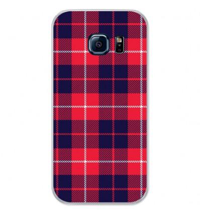 Coque en silicone Samsung Galaxy S7 - Tartan Rouge 2
