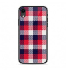 Coque en silicone Apple iPhone XR - Tartan Tricolor