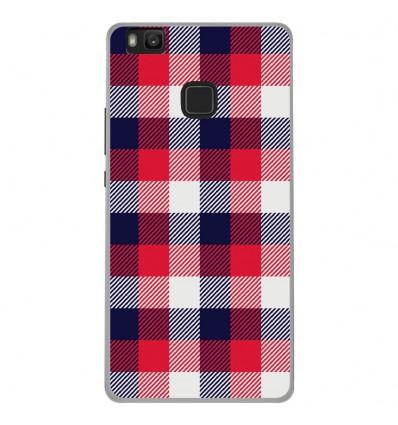 Coque en silicone Huawei P9 Lite - Tartan Tricolor