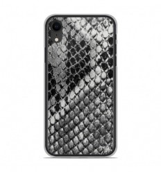 Coque en silicone Apple iPhone XR - Texture Python