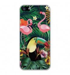 Coque en silicone Apple iPhone 5 / 5S - Tropical Toucan