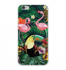 Coque en silicone Apple iPhone 6 Plus / 6S Plus - Tropical Toucan