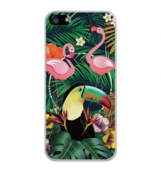 Coque en silicone Apple iPhone SE - Tropical Toucan