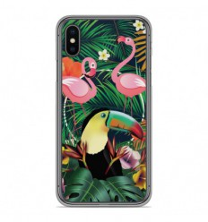 Coque en silicone Apple iPhone X / XS - Tropical Toucan
