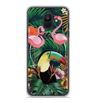 Coque en silicone Samsung Galaxy A6 2018 - Tropical Toucan