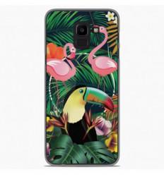 Coque en silicone Samsung Galaxy J6 2018 - Tropical Toucan
