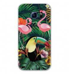 Coque en silicone Samsung Galaxy S7 - Tropical Toucan