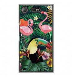 Coque en silicone Sony Xperia XZ1 Compact - Tropical Toucan