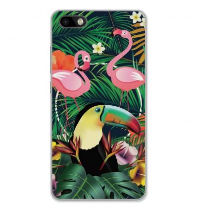 Coque en silicone Wiko Lenny 3 - Tropical Toucan
