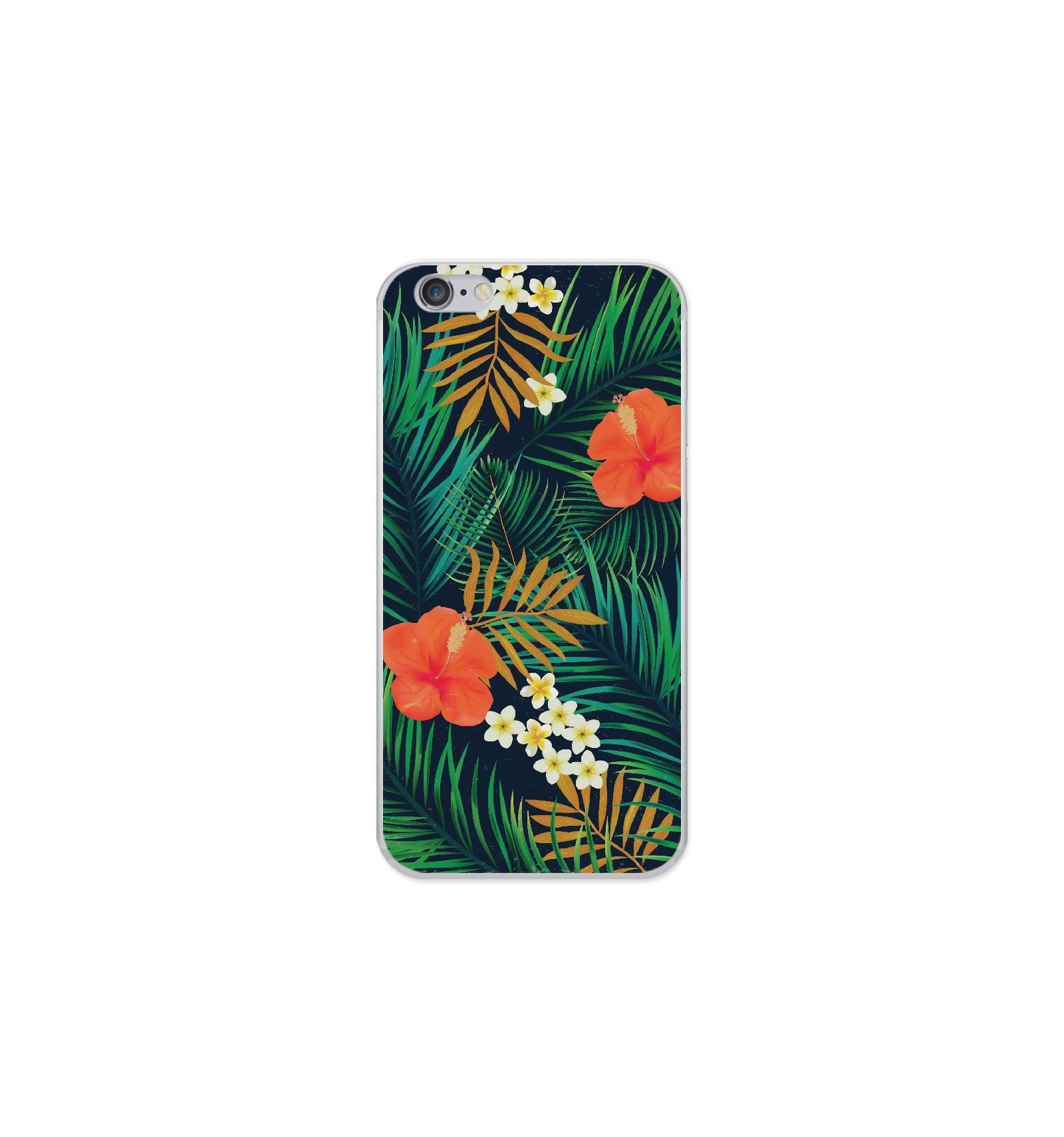 coque en silicone apple iphone 6 6s tropical